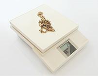Goldkette auf Waage Ankauf