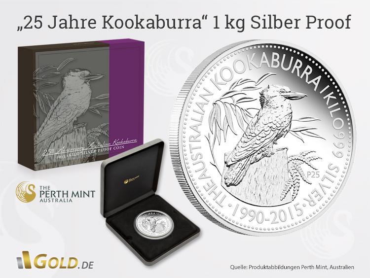 25 Jahre Kookaburra 1 Kg Silber Proof