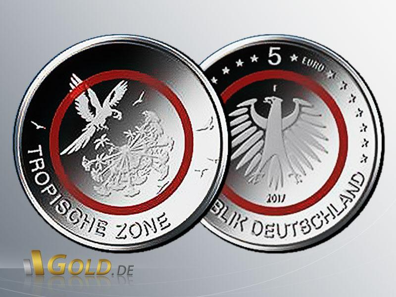 5 Euro Sammlermünze 2017 Tropische Zone